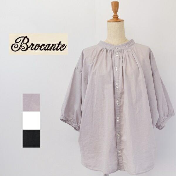 レディース/Brocante ブロカント DOMINGO ドミンゴ/スタンドカラー ワイドシルエット ドルマンスリーブ シャツ/36-0207X