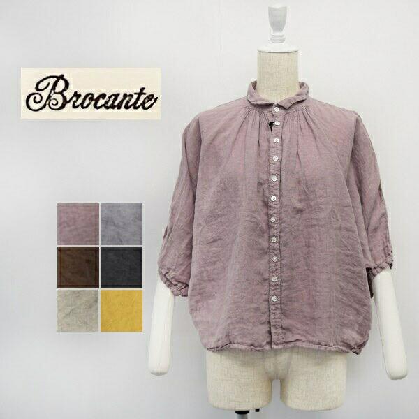 レディース/Brocante ブロカント DOMINGO ドミンゴ/ワイドシルエット ドルマンスリーブ リネン シャツ/38-0042L
