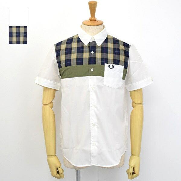 メンズ Fred 使い勝手の良い Perry フレッドペリー お買い得 半袖 切り替え チェック柄 F4575 シャツ