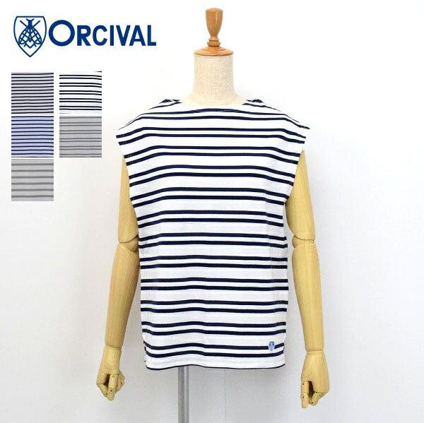 レディース ORCIVAL 人気商品 オーシバル オーチバル ボートネック カットソー RC-9165 ノースリーブ おしゃれ Tシャツ