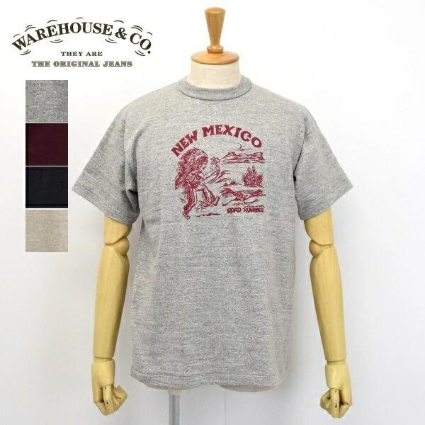 メンズ WAREHOUSE ウエアハウス 半袖 クルーネック フロント NEW MEXICO ディスカウント 正規激安 プリント Tシャツ 4601