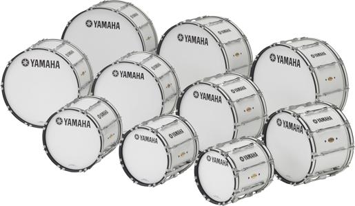 20インチ ヤマハ マーチングバスドラム MB-8320WH ホワイト FIELD-CORPS Series