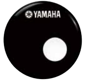 ヤマハレモ ドラムヘッド(ドラムセット用) バスドラムフロントヘッド アンバサダーエボニースモールホールカット20