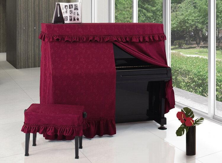 【送料無料】 アルプス オールカバー A-MR アップライトピアノ用ワインレッド地模様 音符柄 ワッシャージャガードタイプ ピアノカバー※サイズによって価格が変わります。ご注文後に価格を訂正いたします。※椅子用カバーは別売りです。