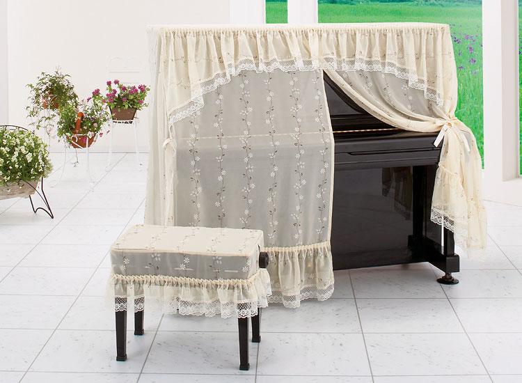 【送料無料】 アルプス オールカバー A-UL アップライトピアノ用ベージュ系 小花柄 レースプリントタイプ ピアノカバー※サイズによって価格が変わります。ご注文後に価格を訂正いたします。 ※椅子用カバーは別売りです。