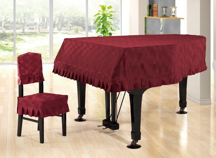 【送料無料】 アルプス グランドカバー・ジャガード G-BR グランドピアノ用 ワインレッド系レンガモチーフ柄 ジャガードタイプ ※受注生産 ※サイズによって価格が変わります。ご注文後に価格を訂正いたします。 ※椅子用カバーは別売りです。