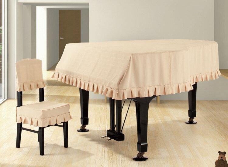 【送料無料】 アルプス グランドカバー・ジャガード G-TE グランドピアノ用ベージュ系ドット&音符ボーダー柄 ジャガードタイプ ※サイズによって価格が変わります。ご注文後に価格を訂正いたします。 ※椅子用カバーは別売りです。