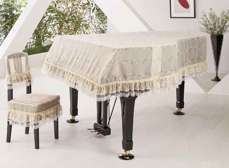 【送料無料】 アルプス グランドカバー G-UL グランドピアノ用ベージュ系 小花柄 レースプリントタイプ ※サイズによって価格が変わります。ご注文後に価格を訂正いたします。 ※椅子用カバーは別売りです。