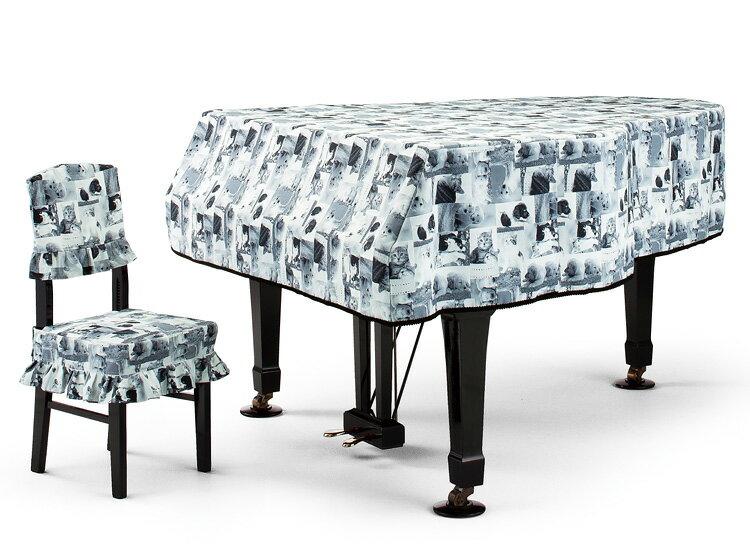 【送料無料】 アルプス グランドカバー G-GP グランドピアノ用モノクロ子犬&子猫柄 転写プリントタイプ ピアノカバー※サイズによって価格が変わります。ご注文後に価格を訂正いたします。 ※椅子用カバーは別売りです。