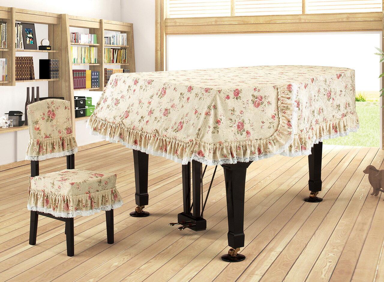 【送料無料】 アルプス グランドカバー G-JF グランドピアノ用ベージュ系地模様バラ柄プリント ジャガードプリントタイプ※サイズによって価格が変わります。ご注文後に価格を訂正いたします。※椅子用カバーは別売りです。