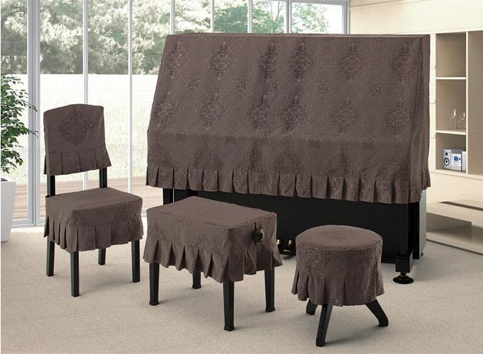【送料無料】 アルプス ハーフカバー H-DBR アップライトピアノ ダークブラウン系ダマスク柄 ダマスクジャガードタイプ ピアノカバー※サイズによって価格が変わります。ご注文後に価格を訂正いたします。※椅子用カバーは別売りです。