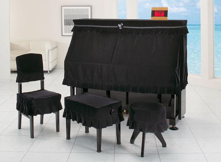 【送料無料】 アルプス ハーフカバー・キュプラベルベット H-WB BK アップライトピアノ用ブラック ベルベットタイプ ピアノカバー 【オーダー品】 ※椅子用カバーは別売りです。