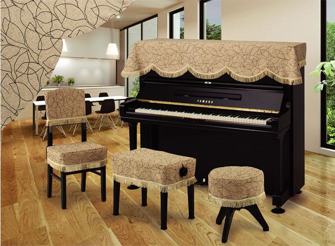 アルプス トップカバー TJ-27 マート 発売モデル ベージュ系リーフ柄 ピアノカバー※椅子用カバーは別売りです アップライトピアノ