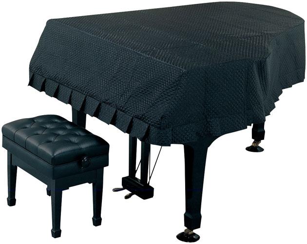 甲南 グランドピアノ用フルカバー キルティング【ブラック】 KA-G ピアノカバー 【受注生産】