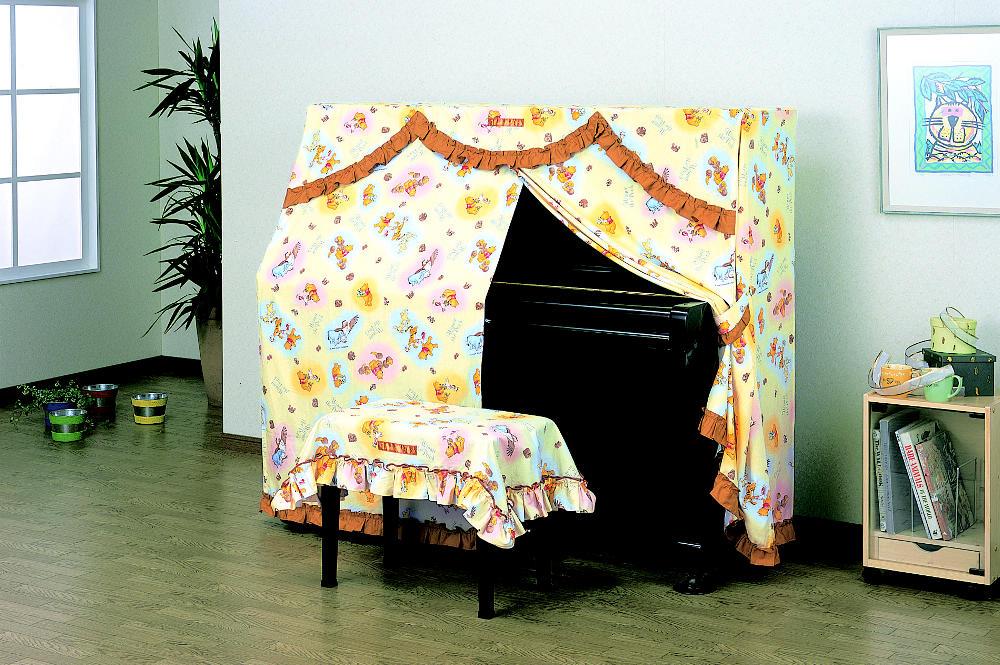 【送料無料】 吉澤  ピアノオールカバー くまのプーさん UP-PSN アップライトピアノ用ピアノカバー※ぴったりサイズはございません。 ※椅子用カバーは別売りです。