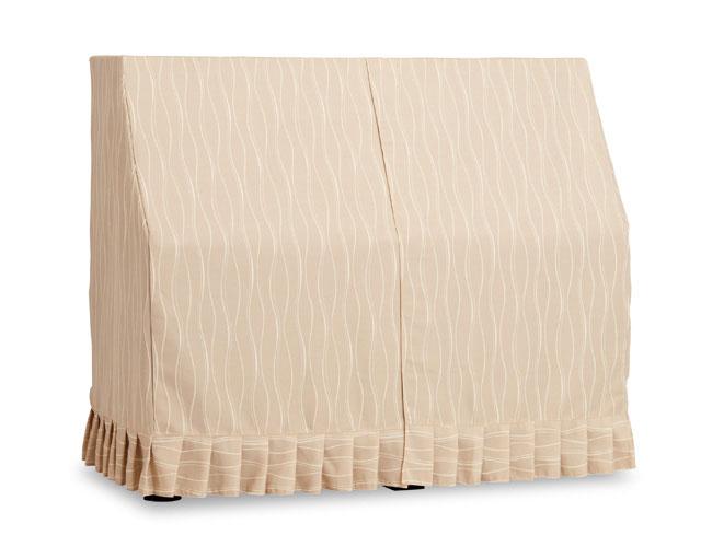 吉澤 アップライトピアノ用オールカバー UP-594BB コード柄ジャガード織 ブラウンベージュ ピアノカバー