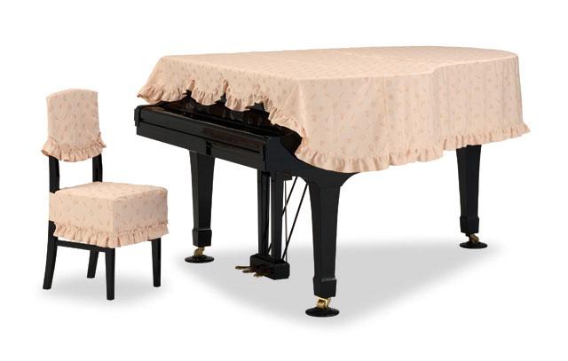 吉澤 グランドピアノカバー GP-596BB ブラスバンド柄ジャガード織 ベージュ ピアノカバー