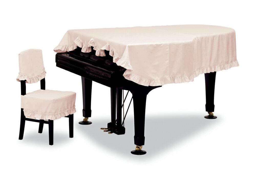 【送料無料】 吉澤 グランドカバー GP-528CPピンク 音符&クローバー柄ジャガード織 グランドピアノ用フルカバー *受注生産(オーダーメイド) ※サイズによって価格が変わります。ご注文後に価格を訂正いたします。※椅子用カバーは別売りです。