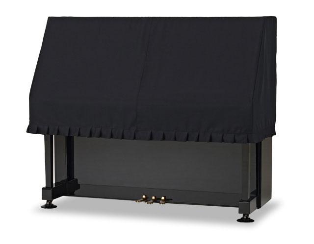 吉澤 アップライトピアノ用ハーフカバー(ピアノケープ) PC-FPBK 防炎加工生地 ブラック ピアノカバー