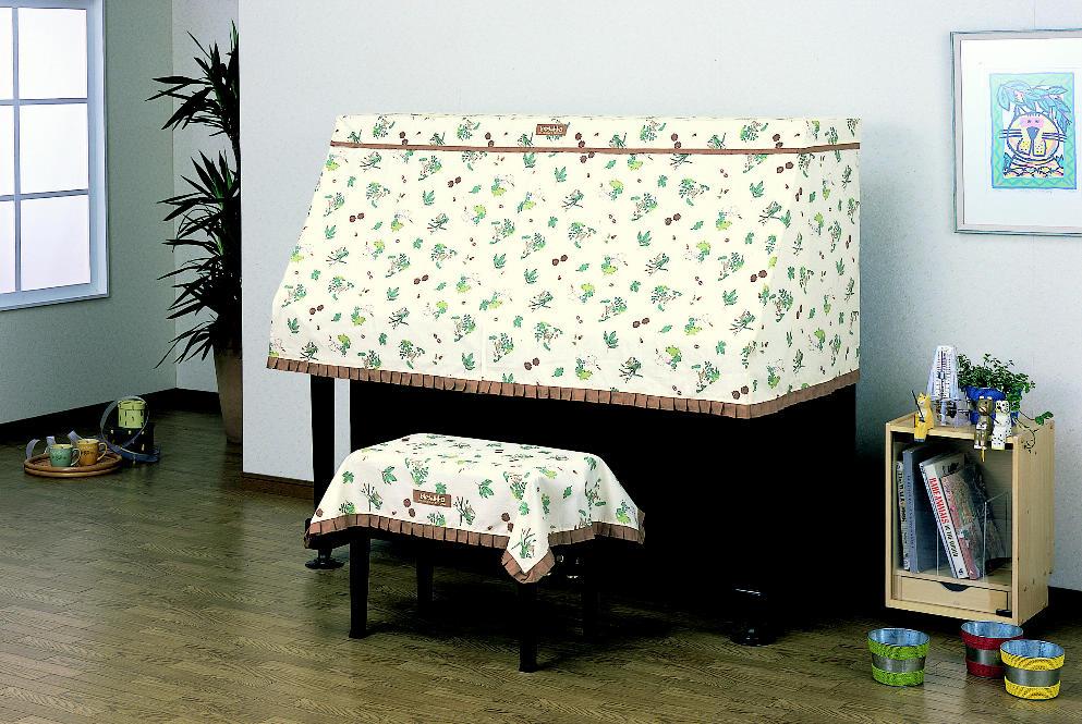 【送料無料】吉澤 ハーフカバー(ピアノケープ) となりのトトロ PC-TTR アップライトピアノ用ピアノカバー  ※椅子用カバーは別売りです。