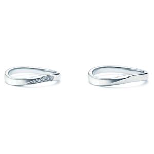 【ペアリング2本1組ダイヤあり*ダイヤなし】 NINA RICCI ニナリッチ ウェディングリング TORSADE 6R1B02/6R1B01 P 結婚指輪(マリッジリング)