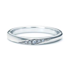 【ダイヤあり単品】 NINA RICCI ニナリッチ ウェディングリング TORSADE 6R1B04 S 結婚指輪(マリッジリング)