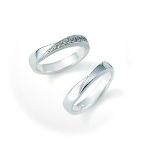 【ペアリング2本1組ダイヤあり*ダイヤなし】 NINA RICCI ニナリッチ ウェディングリング PLUTINUM COLLECTION 6RB910/6RA915 P 結婚指輪(マリッジリング) 【送料無料】