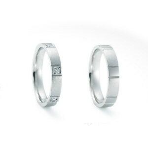 【ペアリング2本1組ダイヤあり*ダイヤなし】 NINA RICCI ニナリッチ ウェディングリング PLUTINUM COLLECTION 6RB908/6RA913 P 結婚指輪(マリッジリング) 【送料無料】