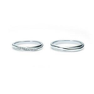 【ペアリング2本1組ダイヤあり*ダイヤなし】 NINA RICCI ニナリッチ ウェディングリング TORSADE 6R1Q01/6R1Q02 P 結婚指輪(マリッジリング) 【送料無料】