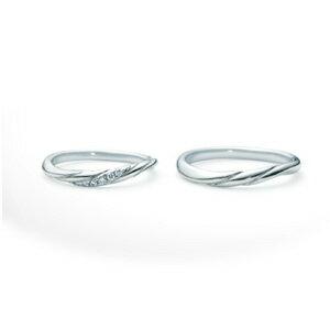 【ペアリング2本1組ダイヤあり*ダイヤなし】 NINA RICCI ニナリッチ ウェディングリング TORSADE 6R1J01/6R1J02 P 結婚指輪(マリッジリング) 【送料無料】