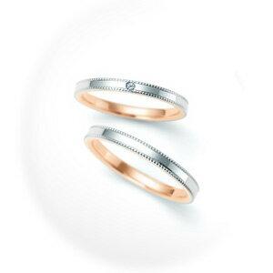 【ペアリング2本1組ダイヤあり*ダイヤなし】 NINA RICCI ニナリッチ ウェディングリング ETERNITE 6R1F03/6R1F04 P 結婚指輪(マリッジリング) 【送料無料】