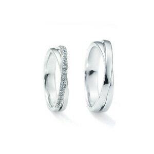 【ペアリング2本1組ダイヤあり*ダイヤなし】 NINA RICCI ニナリッチ ウェディングリング PLUTINUM COLLECTION 6RB0002/6RA0002 P 結婚指輪(マリッジリング) 【送料無料】