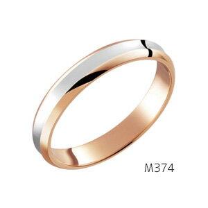 【ダイヤなし単品】 True Love Pt900 & K18 Pink Gold M374 結婚指輪(マリッジリング) PILOT(パイロットコーポレーション) トゥルーラブ 【送料無料】