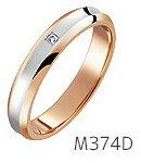 【ダイヤあり単品】 True Love Pt900 & K18 Pink Gold M374D 結婚指輪(マリッジリング) PILOT(パイロットコーポレーション) トゥルーラブ 【送料無料】