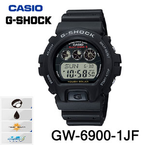 【送料無料】【メーカー1年保証付】CASIO(カシオ) G-SHOCK(ジーショック)GW-6900-1JF メンズ腕時計