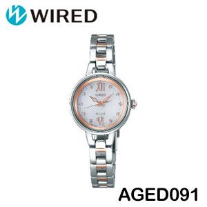 【送料無料】【メーカー1年保証付】WIRED(ワイアード) SOLAR COLLECTION(ソーラーコレクション) AGED091 レディース腕時計