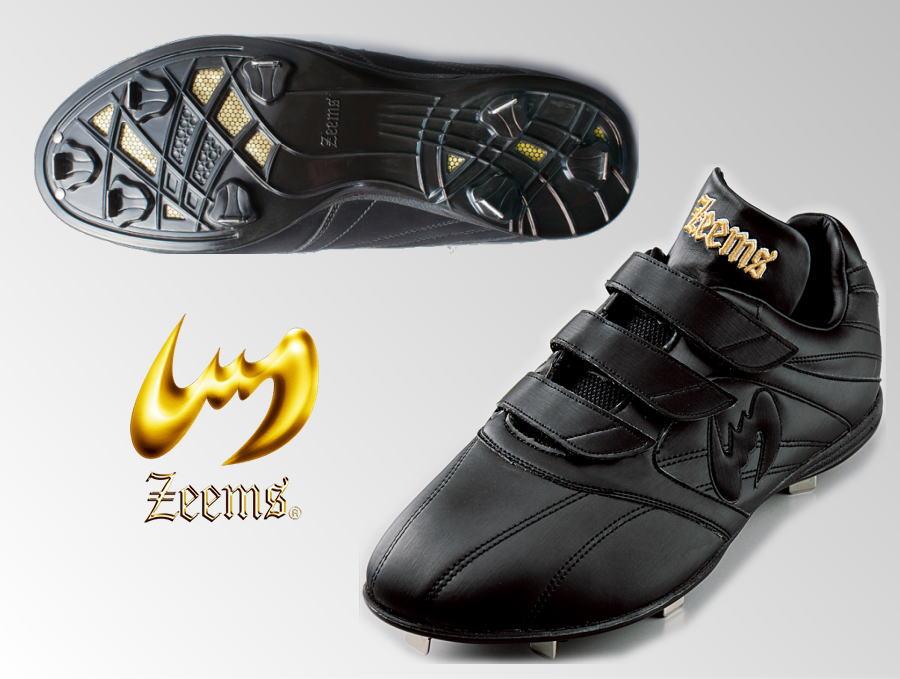 ジームス ZEEMS 野球スパイク ZCE-13 ジーカルティエイト 3本マジックベルト 幅広設計 樹脂底 固定金具 2018年NEWモデル