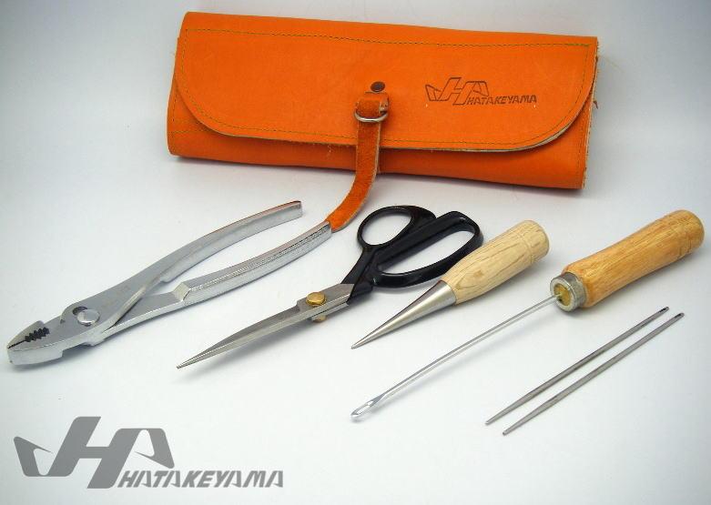 ハタケヤマ HATAKEYAMA 修理用 工具セット BZ-10 グラブ革ケース付き/5点セット グラブの修理に 受注生産