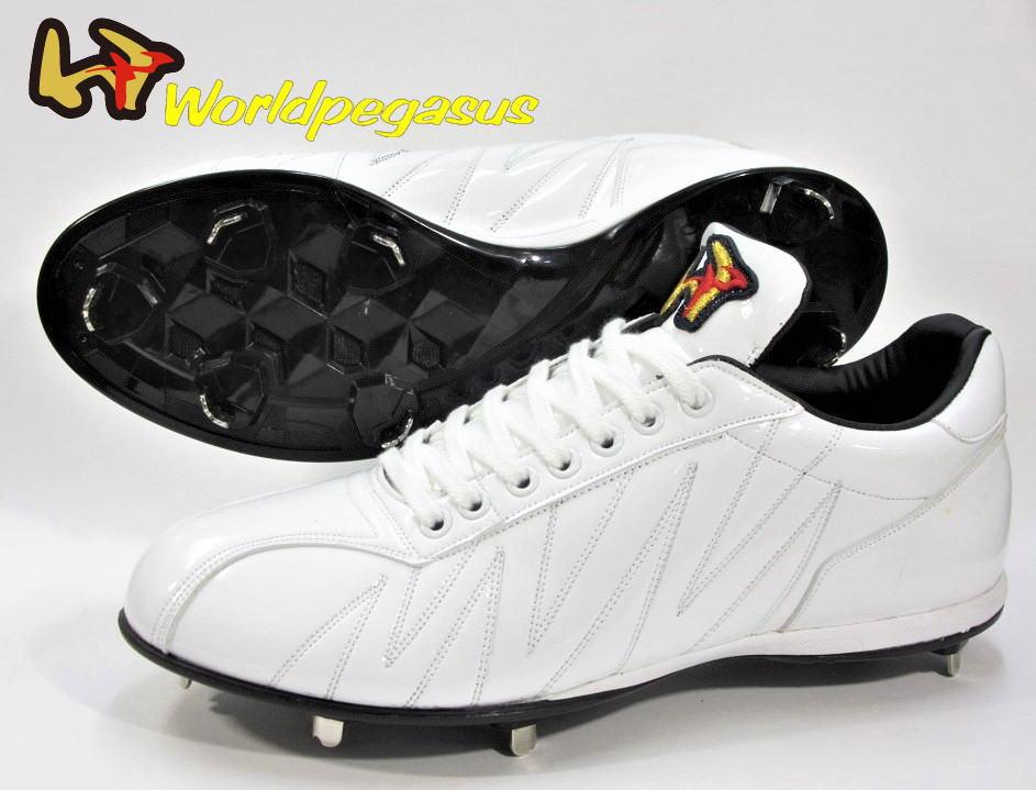 ワールドペガサス 野球スパイク 白スパイク ホワイトアッパー 2020年高校野球認可 WSUCW1 樹脂底 固定金具 縫いP加工可 日本製 送料無料