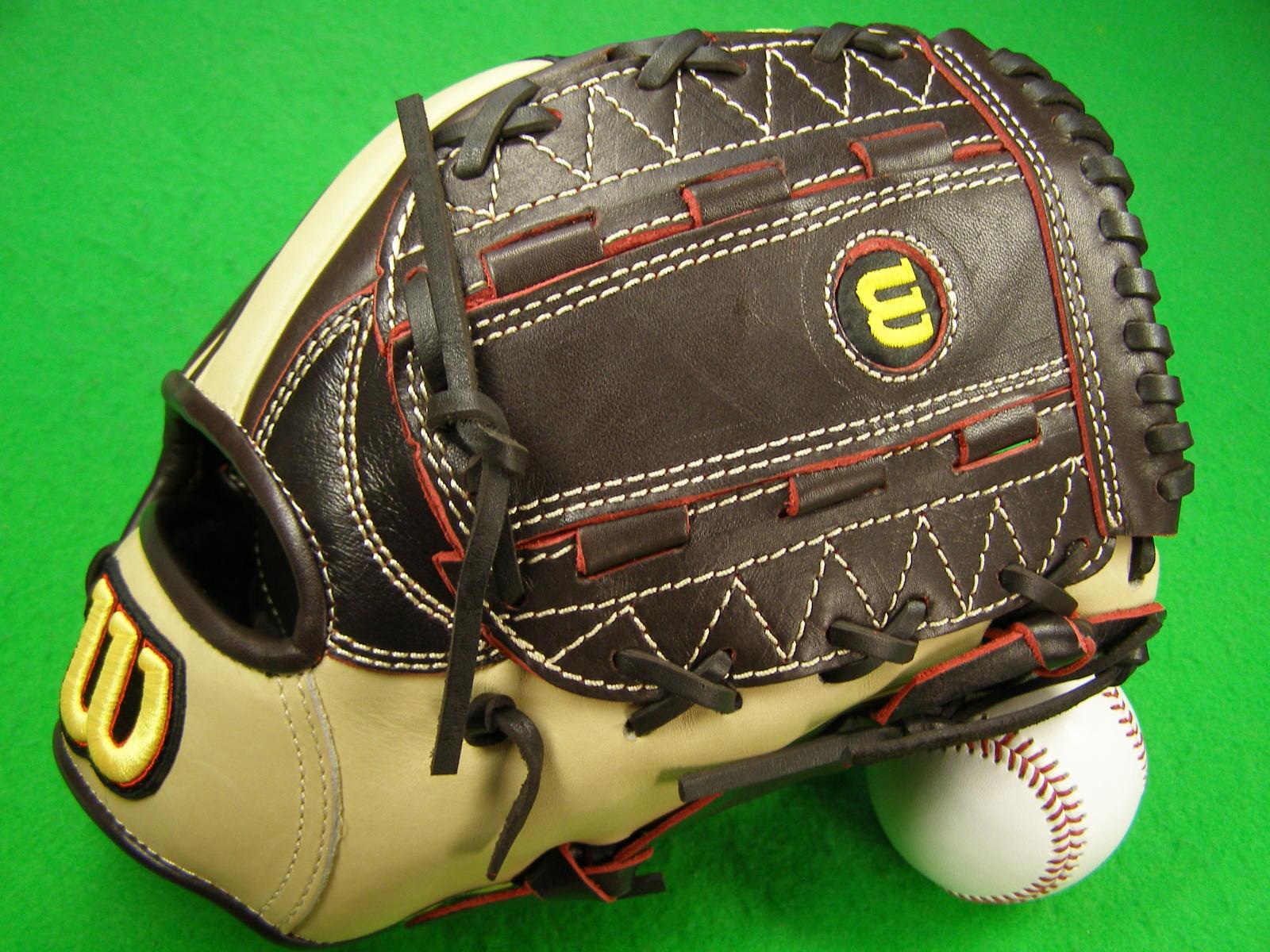 送料無料 型付け無料 WILSON ウィルソン 海外モデル 硬式野球向け 投手・オールラウンド用 PROSTAFF ダークブラウン×ナチュラル
