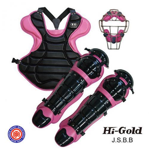 送料無料 JSBB公認 軟式野球用 キャッチャーセット HI-GOLD ブラック×ピンク