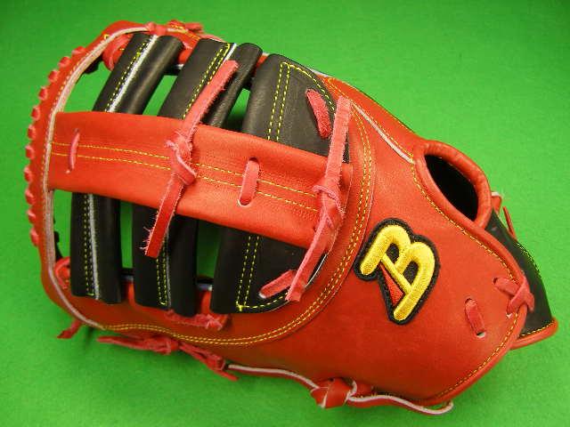 型付け無料 ベルガード BELGARD 左投げ用 アメリカンスタイル ファーストミット レッド×ブラック 野球・ソフト兼用