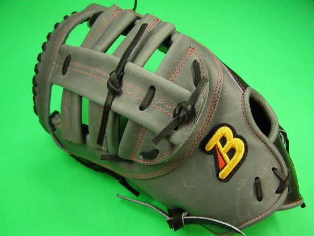 型付け無料 ベルガード BELGARD 左投げ用 アメリカンスタイル ファーストミット グレー×ブラック 野球・ソフト兼用