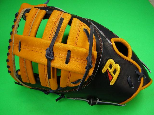 型付け無料 ベルガード BELGARD 左投げ用 アメリカンスタイル ファーストミット ネイビー×オレンジ 野球・ソフト兼用