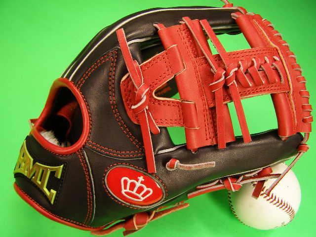 型付け無料 海外メーカー BMC ビーエムシー 硬式野球用 内野用 レッド×ブラック Hクロスウェブ Baseball Members Club