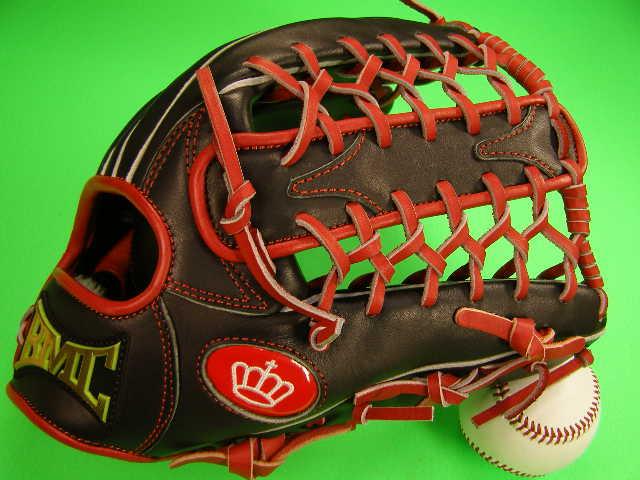 型付け無料 海外メーカー BMC ビーエムシー 硬式野球用 外野用 レッド×ブラック 標準サイズ12.5インチ Baseball Members Club
