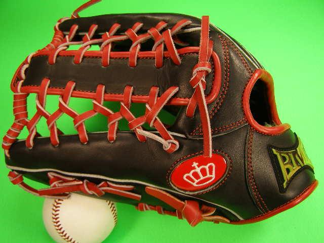 型付け無料 海外メーカー BMC ビーエムシー 硬式野球用 左投げ用 外野用 レッド×ブラック 大きめサイズ12.75インチ Baseball Members Club