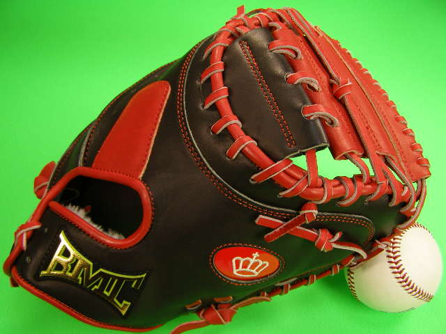 型付け無料 BMC ビーエムシー 海外モデル 硬式野球用 キャッチャーミット レッド×ブラック