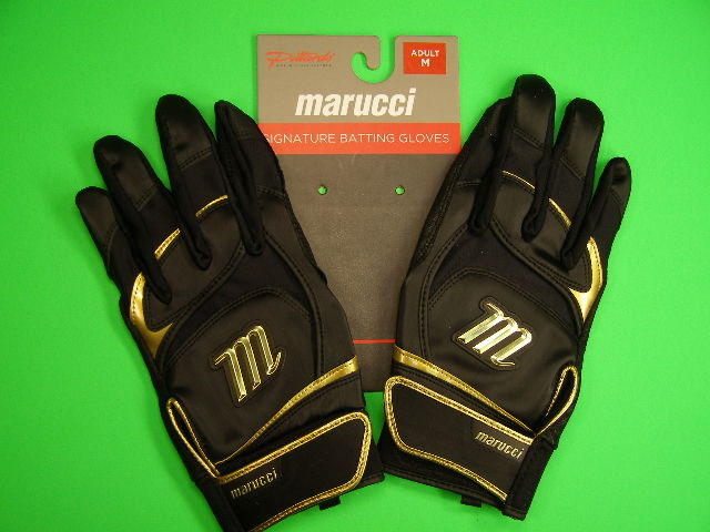 マルチ marucci メジャーリーグでおなじみ Marucci ご予約品 Pittards ブラック×ゴールド Signature Batting Gloves ショップ Series