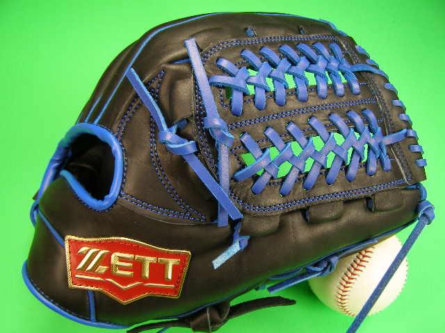 海外モデル 型付け無料 PRO M号球 ゼット 軟式 プロモデル MODEL Uネットウェブ ソフトボール ZETT ブラック×ブルー グローブ 内野用 内野